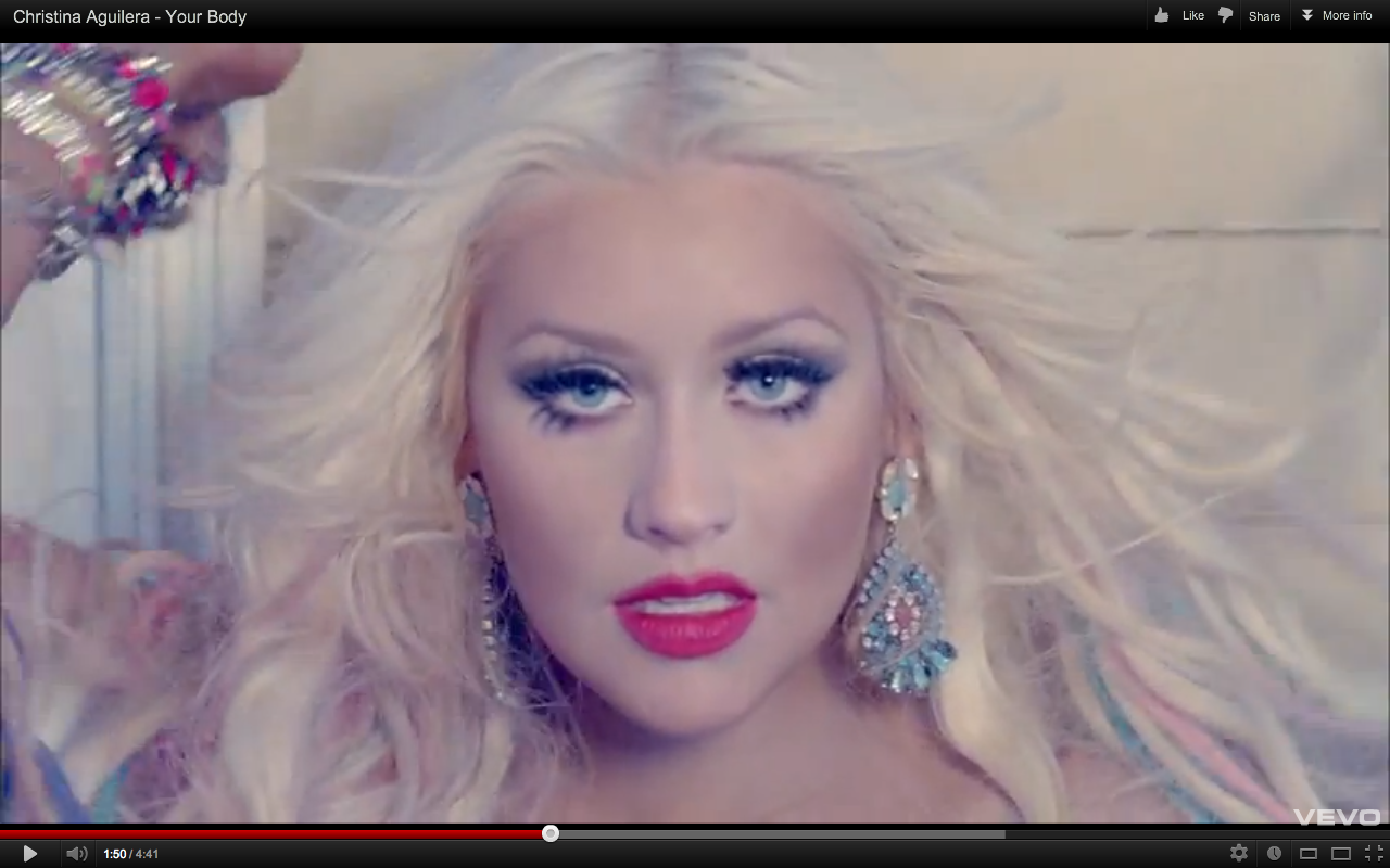 Christina Aguilera Your Body Makeup Look Beauty Sentinel